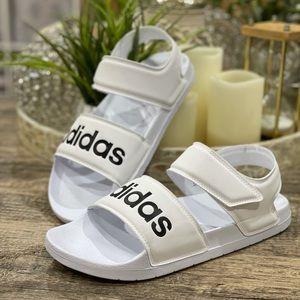 🆕 Adidas Women's Adilette Essential Sandals White